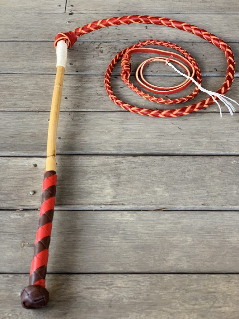 Red and Tan Australian Stock Whip